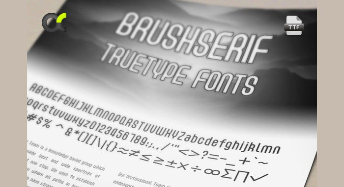 Acmenter TrueType Font