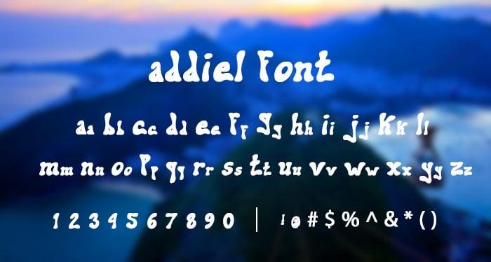 Addiel Funky Font