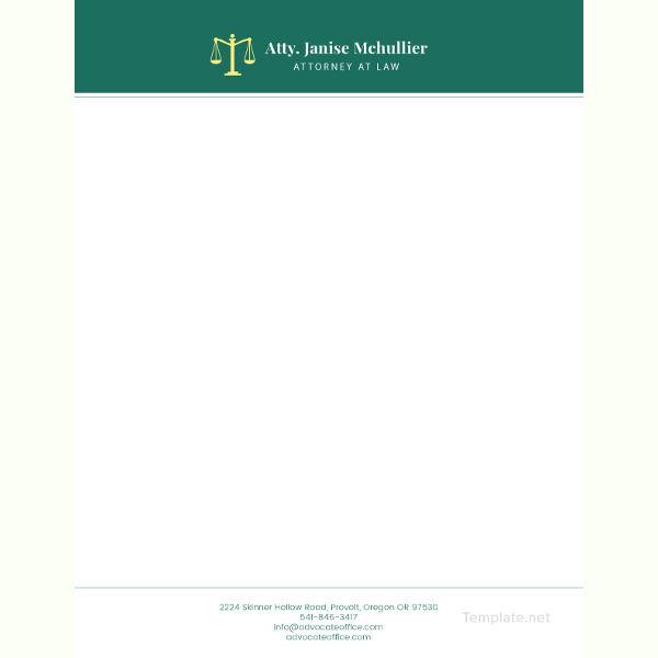 advocate letterhead template1