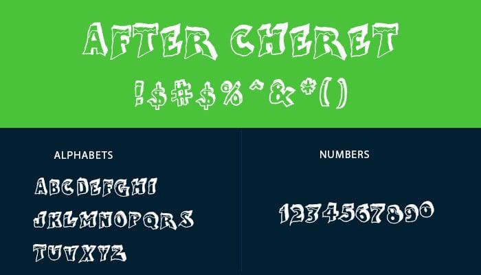 after cheret font2