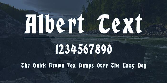 albert text font