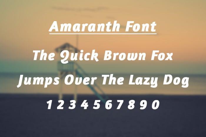 Amaranth Ios Font