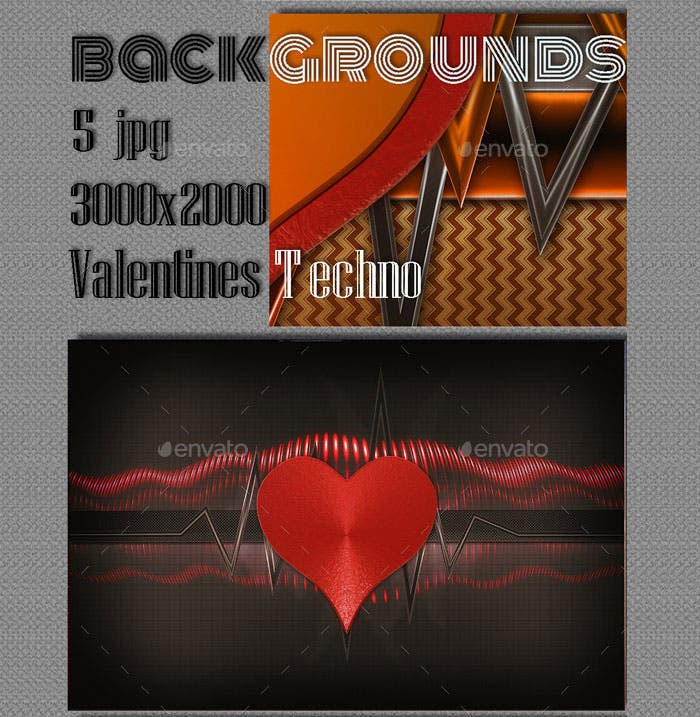 amazing backgrounds on valentine techno