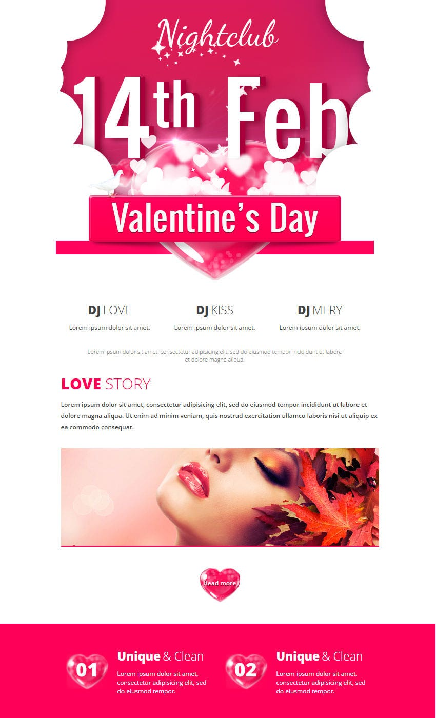 Best Valentines Emails Newsletter Templates  Free  Premium