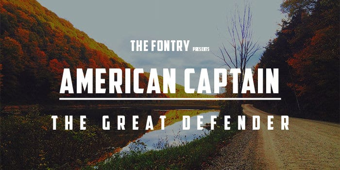 american captain capital letter font 21
