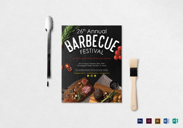 annual bbq festival flyer template