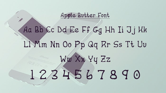apple butter ios font