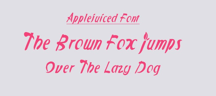 applejuiced ios font