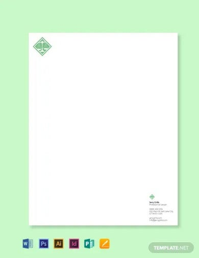 attorney letterhead template