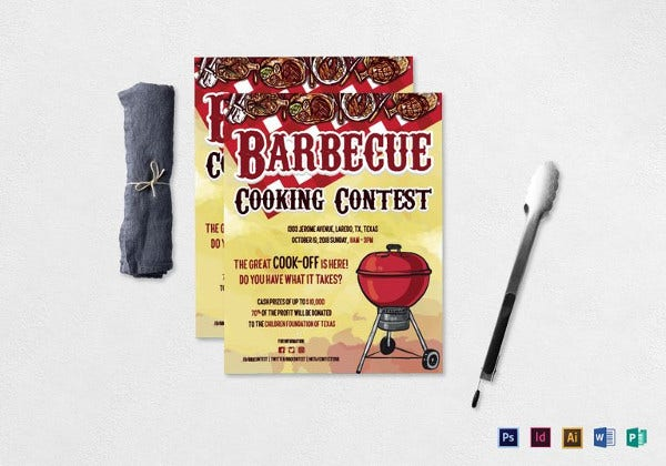 bbq cooking contest flyer template