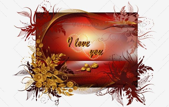 beautifully designed greeting card valentines day 2015