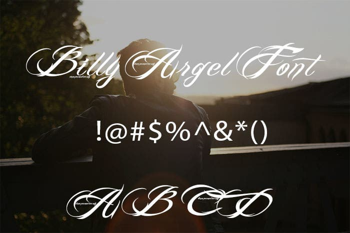 billy argel tattoo font