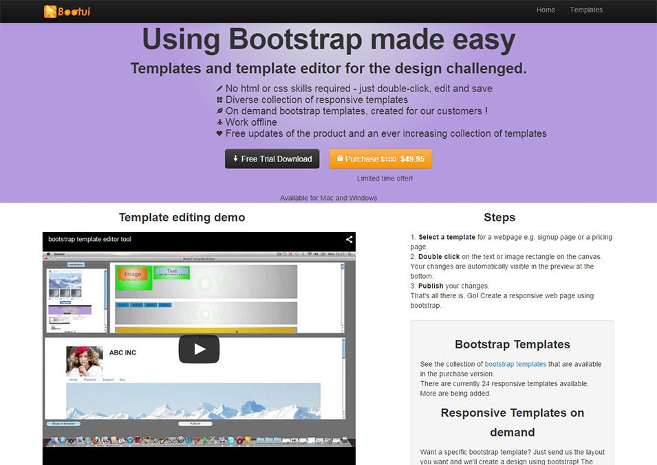 Bootstrap Editor Tool