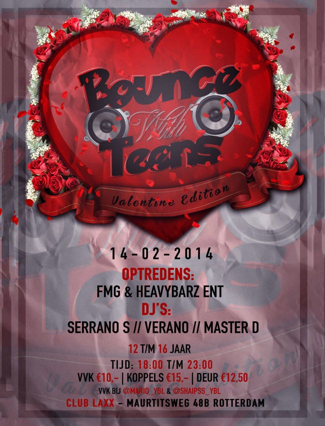 bounce with teens valentine edition flyer