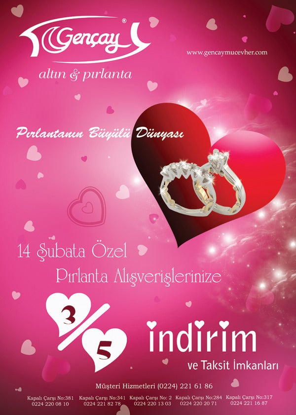 brochure cover for valentines day
