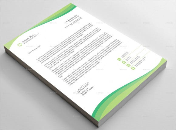 business letterhead psd template