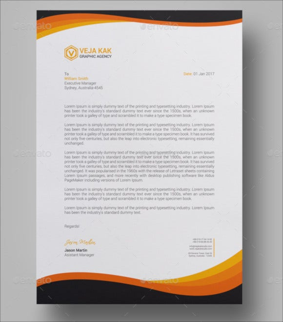 Free Custom Letterhead: 28+ Business Letterhead Templates