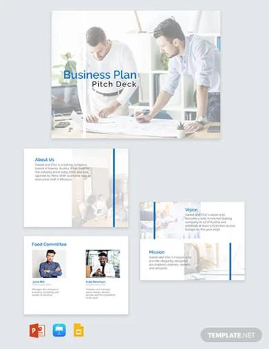 business plan pitch deck template