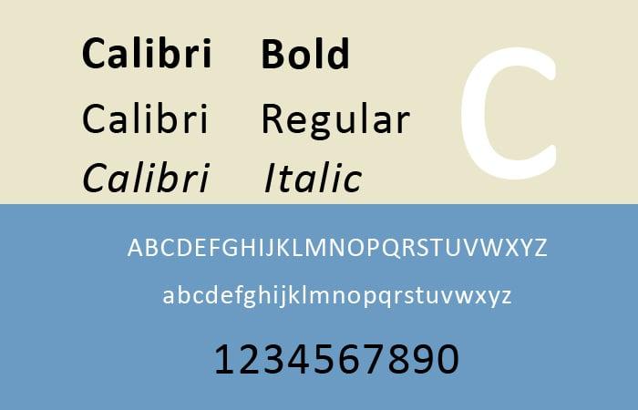 Calibri Font Free - Mentale resonanz methode