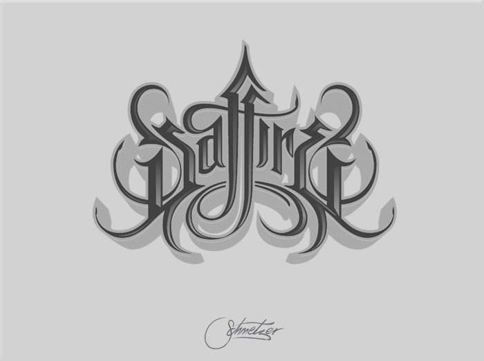 calligraphy tattoo design