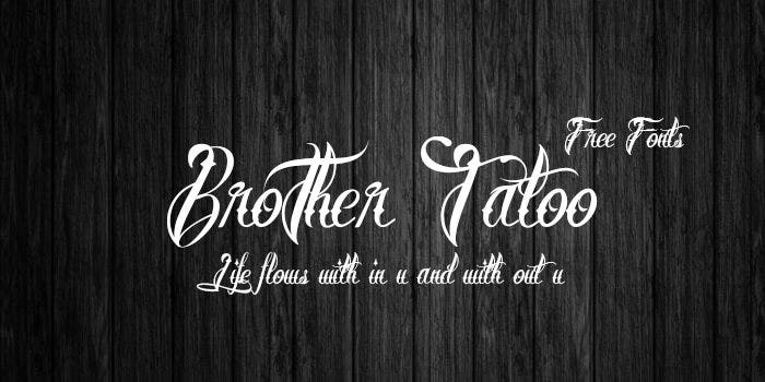 brothertatoo Calligraphy font