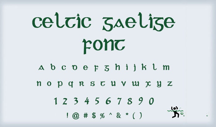 Catlic Gaelige Font
