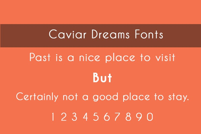 Caviar Dream ios Font