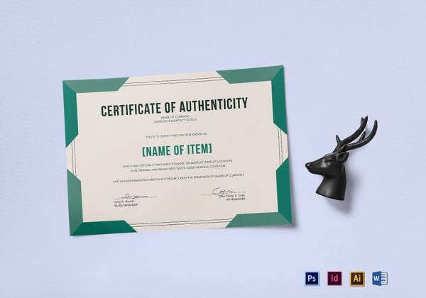 Certificate of authenticity template 27 free word pdf psd certificate of authenticity template yelopaper Gallery