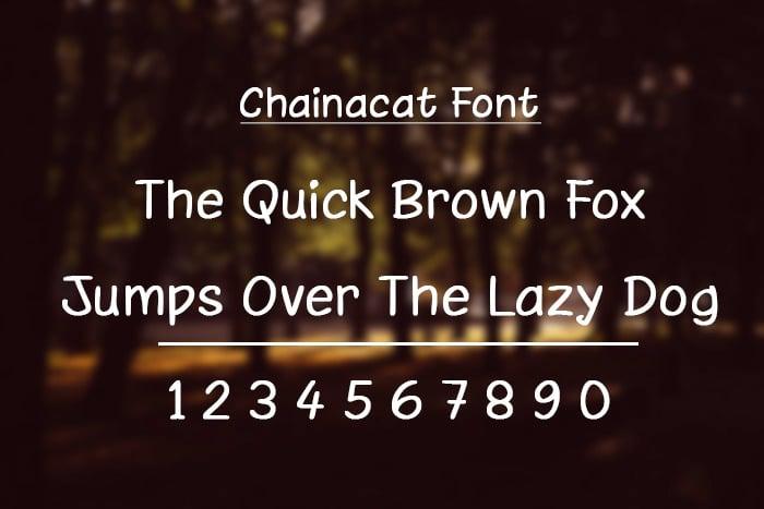 chainacat font 1