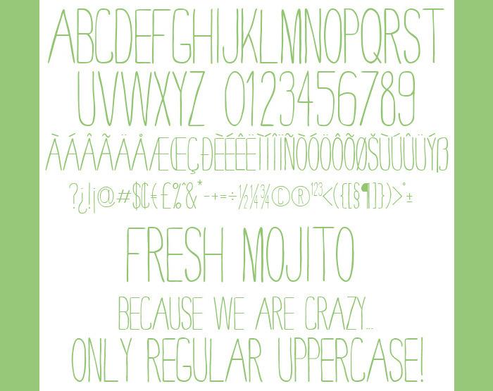 clean truetype font file