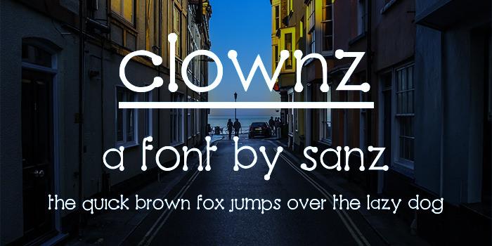 clownz font1