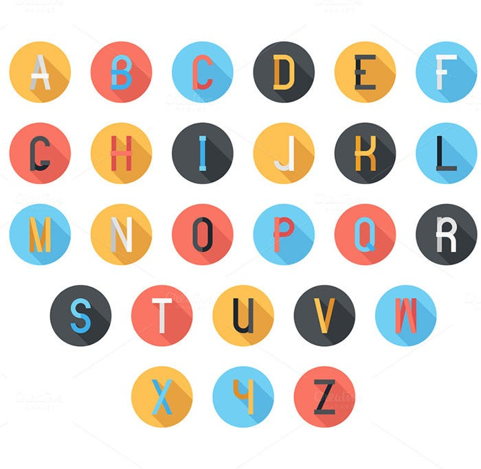 colorful font 2
