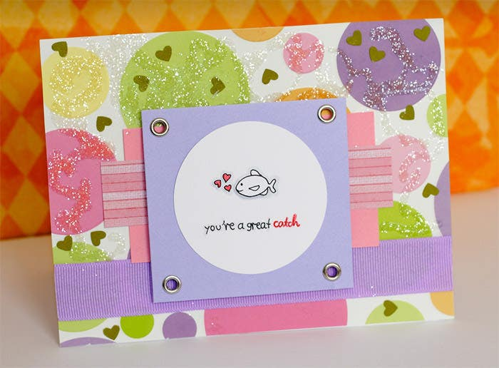 colourful valentines day card