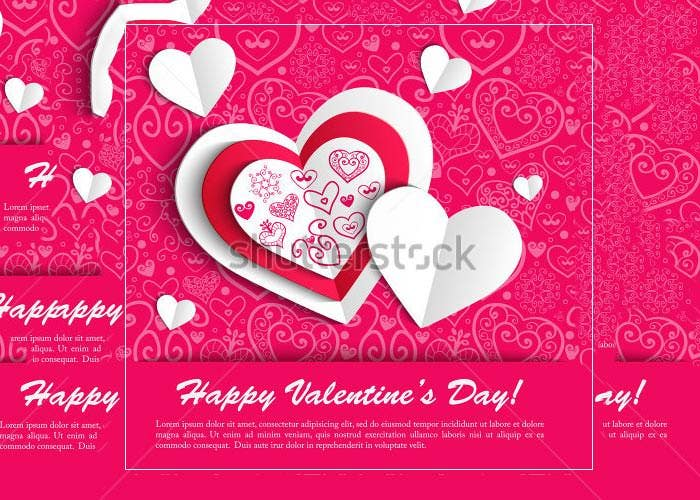 cool hearts valentine day card