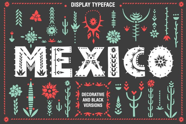 cool mexico font family