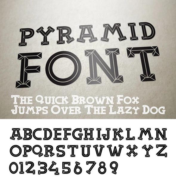 cool pyramid font