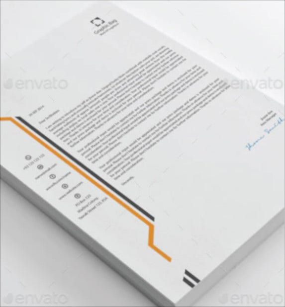 corporate business letterhead template