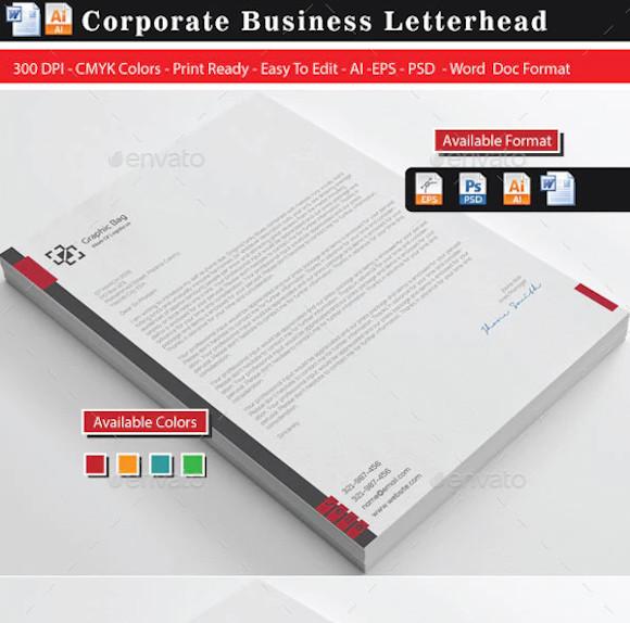 corporate letterhead format2