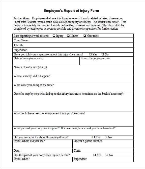 free workplace incident report form template - Boat.jeremyeaton.co