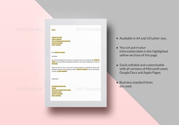 customer-invoice-attached-letter-template