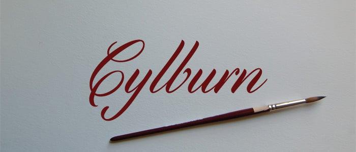 Cylburn Cursive Script Font