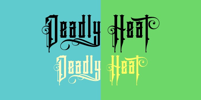deadly heat font