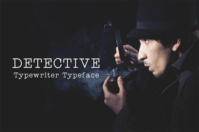 detective typewriter font