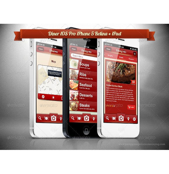 diner pro ios phone mobile template