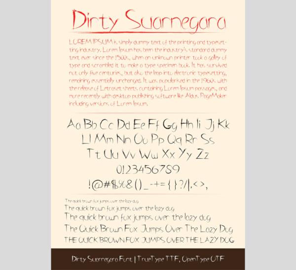 dirty suarnegara font