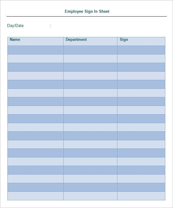 21 Sign In Sheet Templates Free Word Excel PDF Documents – Sign in Sheet