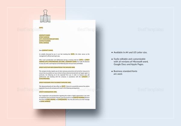 employee-warning-letter-template