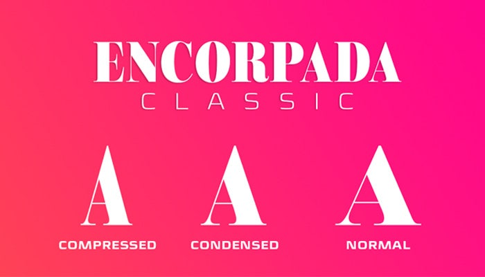 encorpada classic 34 fonts