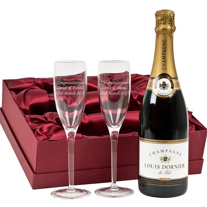 engraved flutes louis dornier champagne