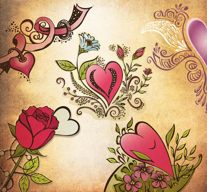 free valentine vector background